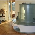 Cotterra-Anlage warmwasserbeheizt aus Keramik, Sitzbank beheizt