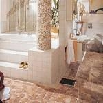 Hochwertiges Privatbad belegt mit Jasba-Steinzeugmosaik